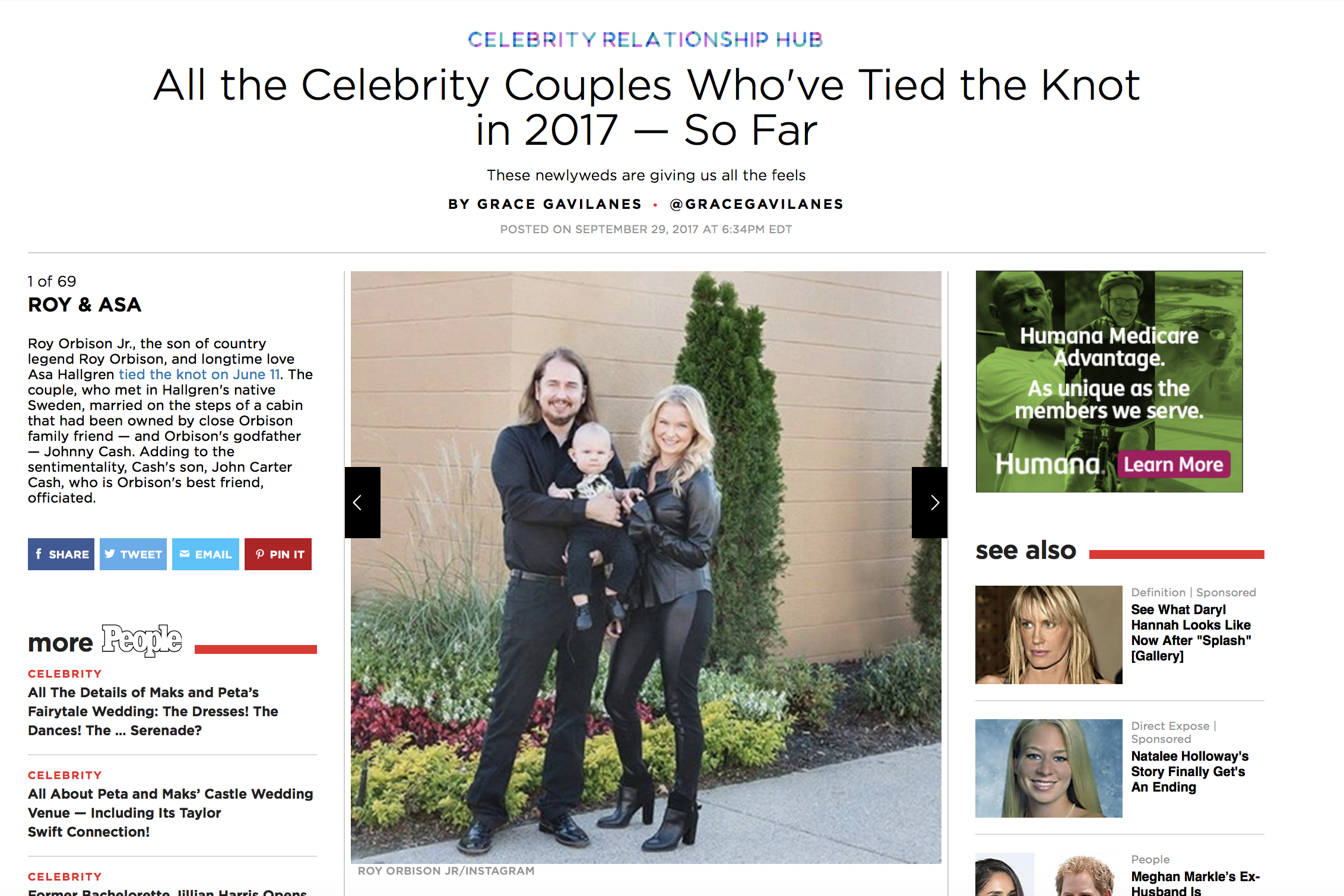 roy Orbison jr celebrity wedding people magazine asa Orbison
