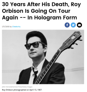 Article In Billboard About Roy Orbison Hologram Tour In